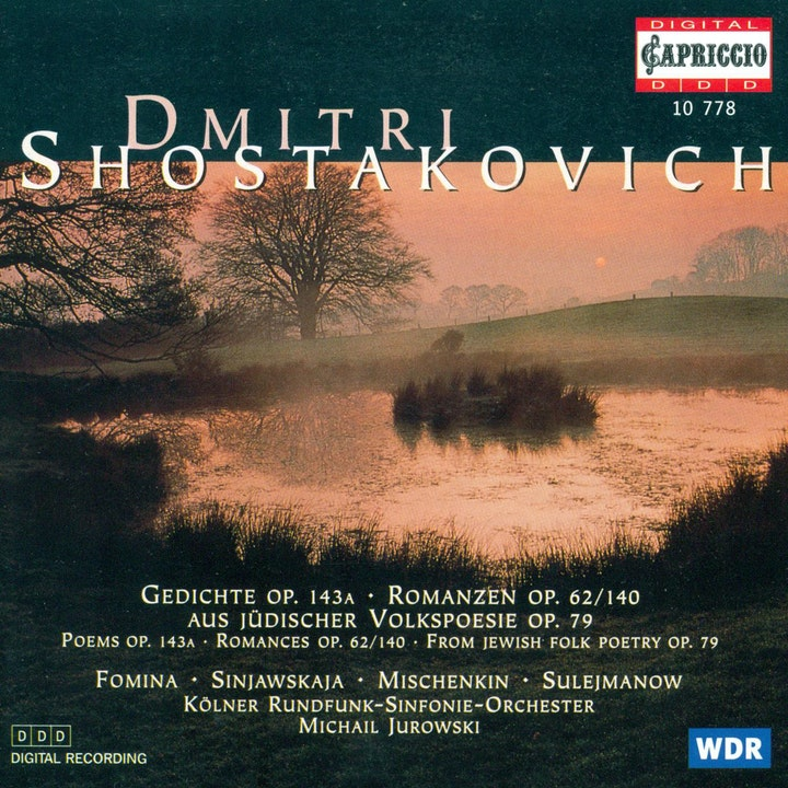 Shostakovich D 6 Verses 6 Romances From Jewish Folk